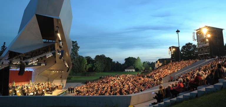 The open-air arena in the Castle grounds hosts some of the world's most famous orchestras and soloists.